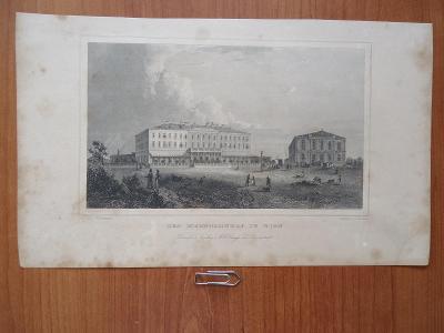 DER EISENBAHNHOF  IN  WIEN.....ocelorytina.....cca  1880