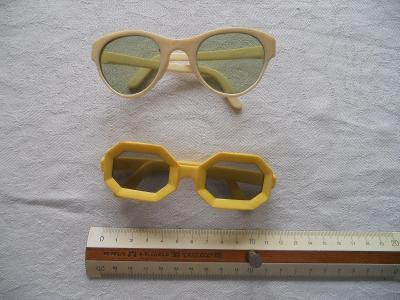 Žluté RETRO dětské plastové brýle