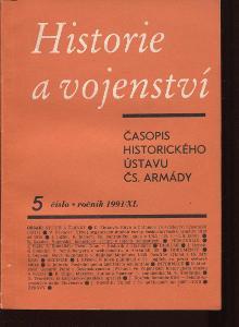 Historie a vojenství, číslo 5., ročník XL/1991