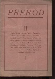 Přerod, číslo 1., ročník II./1923 (Kulturní měsíčn