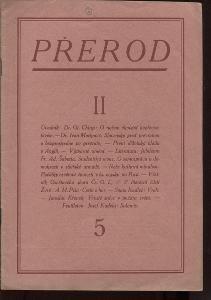 Přerod, číslo 5., ročník II./1924 (Kulturní měsíčn