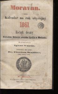 Moravan. Kalendář na rok obyčejný 1861 / 1862. Kalendá
