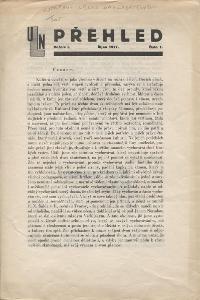 Přehled, ročník I., číslo 1/1927 (Ústřední Legio - na