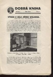 Dobrá kniha, ročník I., číslo 1. - 10./1926 - 1927 (komple