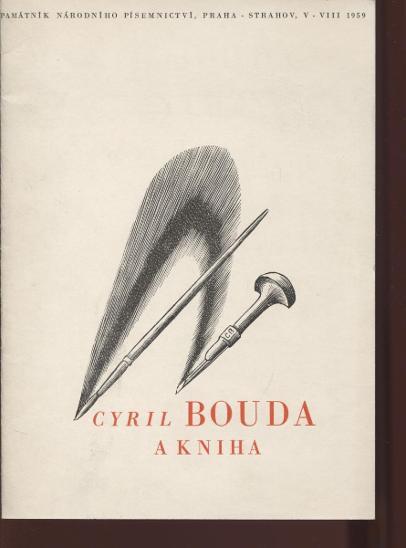 Cyril Bouda a kniha. Výstava knižní tvorby - Knihy