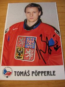 Tomáš Pöpperle - ČR - orig. autogram