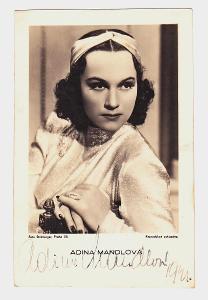 Adina Mandlová autogram