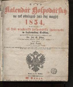 Nový kalendář hospodářský 1854 / 1856 / 1859 / 1866 /