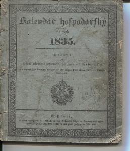 Kalendář hospodářský na rok 1835