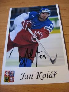 Jan Kolář - ČR - orig. autogram