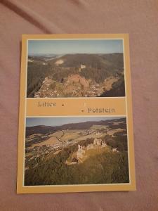 Pohlednice Litice - Potštejn,prošlé poštou