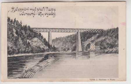 Červená n. Vltavou, železniční most přes Vltavu, 6
