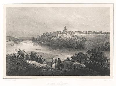 Labská Týnice, Semmler, litografie, 1845