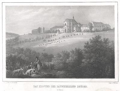 Kuks, Semmler, litografie, 1845