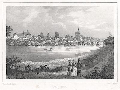 Nymburk, Semmler, litografie, 1845