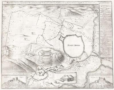 Brno obležení, Merian M.,  mědiryt 1651