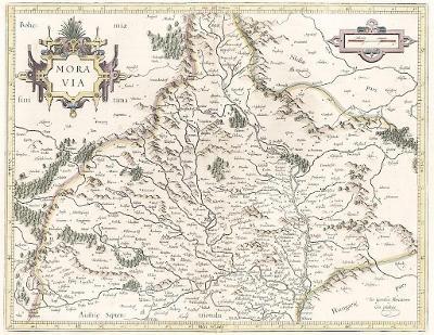 Mercator G., Moravia, mědiryt, 1623