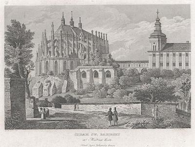 Kutná Hora Barbora, Haase, oceloryt 1838