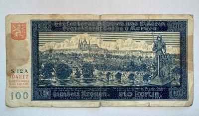 100 Korun 20.8.1940 I. vydání