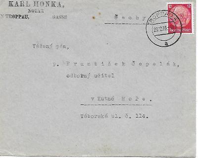 Firemní obálka Opava známka Reich