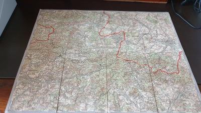 Vojenská mapa 1930-Rumburk-Varnsdorf-Česká Kamenice-Cvikov-Sudety