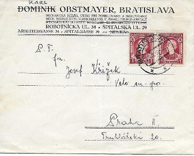 Firemní obálka Bratislava Slovenský Štát