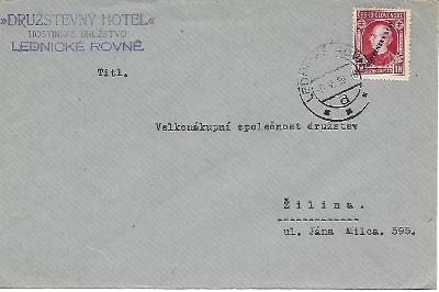 Firemní obálka Lednické Rovné Slovenský Štát