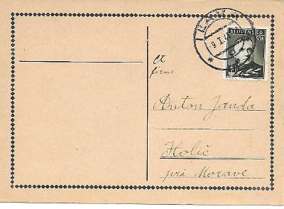 Lístek Iĺava Slovenský Štát