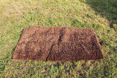chlupatý koberec předložka hnědý rozměr 158 x 88,5 cm
