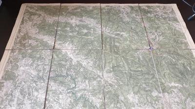 Vojenská mapa 1928-Železná Ruda-ŠUMAVA-Hamry-Javorná-Hojsová Stráž