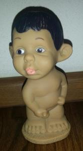 stará sběratel. vinyl. - guma *retro hračka (panenka) *kluk *12,5 cm