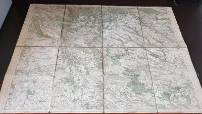 Vojenská mapa 1931-Mělník-Mšeno-Štětí-N.Benátky-Chlumín-Byšice