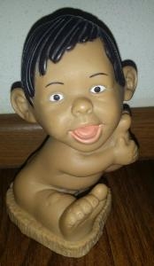stará sběratel. vinyl. (guma) *retro hračka - panenka *holka *12cm