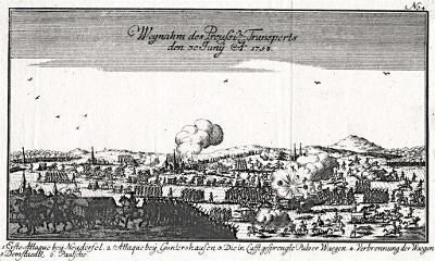 Domašov bitva 1759,Ben Jochai, mědiryt 1760