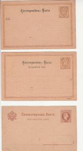 RU celiny,  KORESPONDEČNÍ LÍSTKY, CCA 1880 - 1900, 9 KS , ČISTÉ