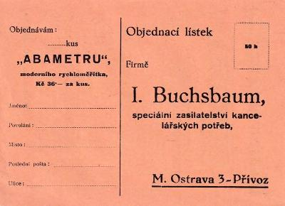 Dopisnice kanc. potřeby Buchsbaum, Ostrava