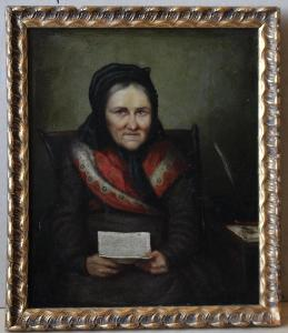 Žena s dopisem - sign - Olej