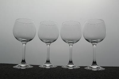 sada 4 kusu sklenic na víno křišťálové sklo značeno výška 18,5 cm