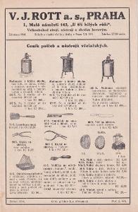 Katalog V.J.Rott a.s., Praha, duebn 1934