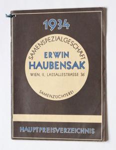Katalog Semena, Vídeň, 1934