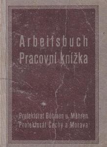 Pracovní knížka Bílina, 1923 Prodavačka