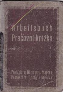 Pracovní knížka Praha, 1925 Strojník