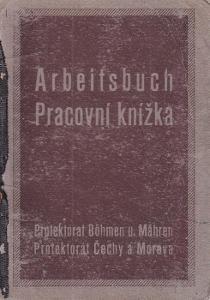Pracovní knížka Praha, 1920 Zedník