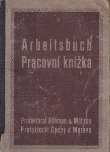 Pracovní knížka Praha, 1901 Deylův ústav