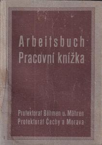 Pracovní knížka Třeboň, 1915 Příručí