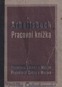Pracovní knížka Praha, 1926 Truhlář