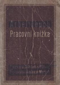 Pracovní knížka Komárno, 1915 Holič kadeřník