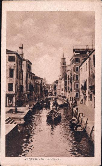 27A1854 Itálie Benátky / Venezia Rio del carmini