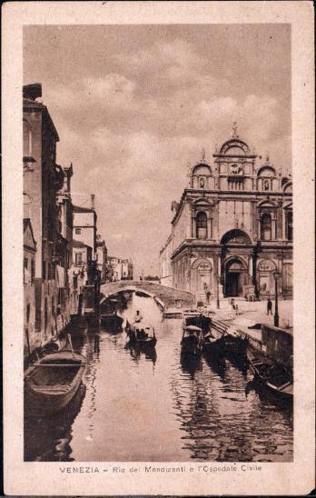 27A1870 Itálie Benátky / Venezia Rio del Mendicanti