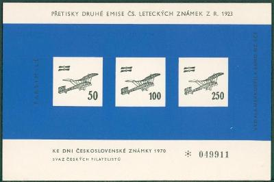 10L728 Vstupenka na na výstavu známek, faksimile přetisků r. 1923
